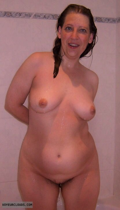 nude wife, Shower pic, Small Tits, hard nipples