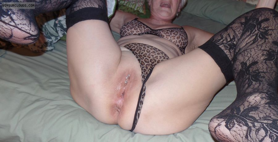 cum, pussy, nylons, senior, mature, GILF, legs, stockings