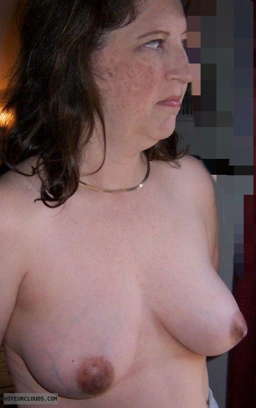 MILF Tits, Hard Nipples, Dark Nipples