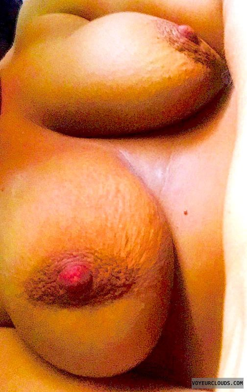 big nipples, pink nipples, nude wife, big tits, topless