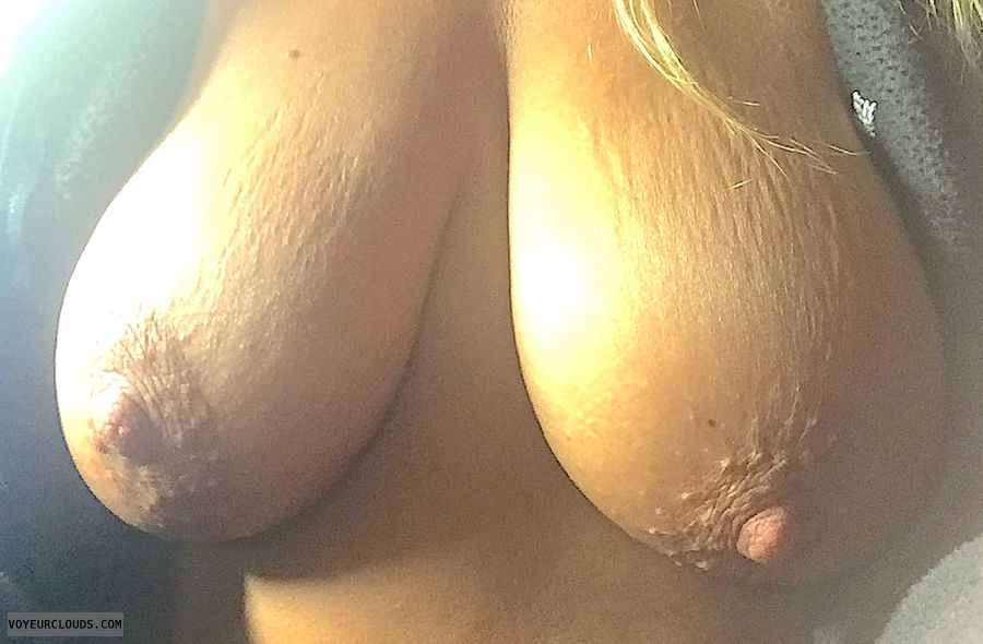 nude wife, topless wife, big nipples, big boobs, tanned tits