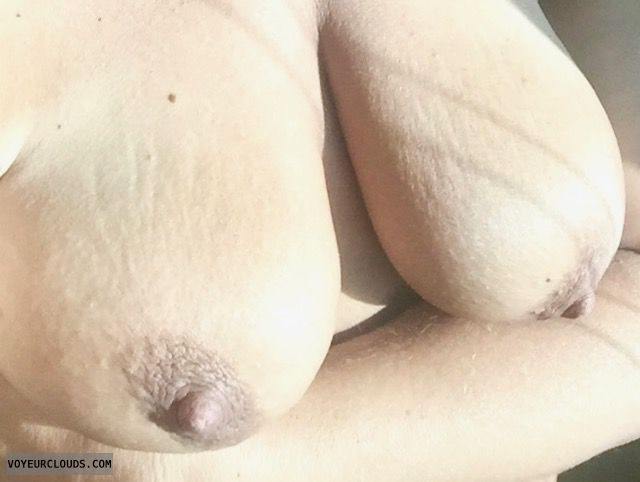 Topless wife, nude wife, topless, sunny tits, boobs