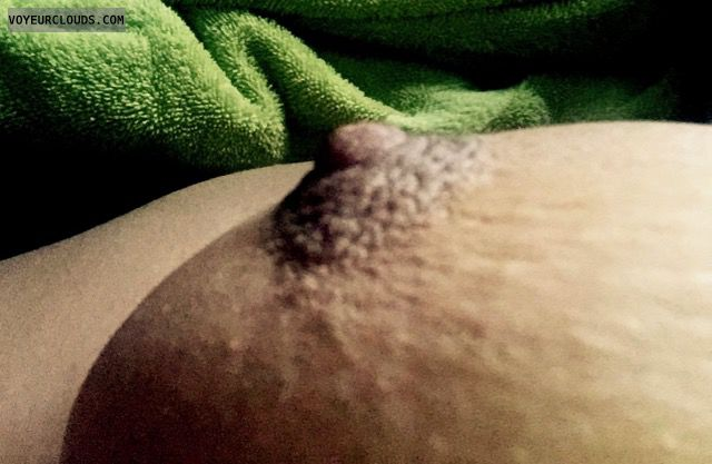 Hard Nipple, Nude Wife, Topless, Tits, Erect Nipple