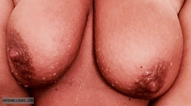 Topless Wife, Nude Wife, Topless, Wet Tits, Big Nipples