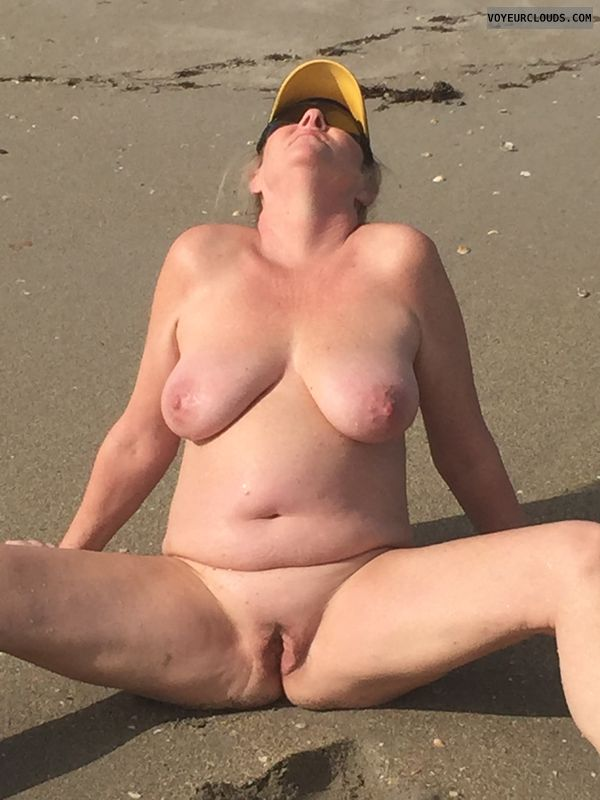 pussy, pink, nude, tits, erect, nipples, breasts, public beach
