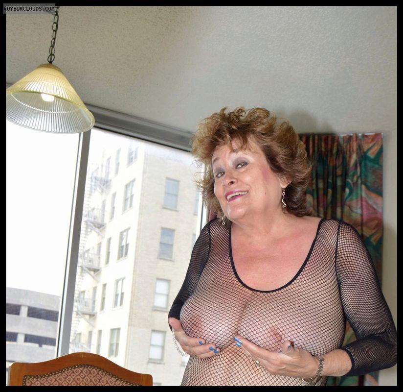 Big tits, Sexy smile, body stocking, glasses