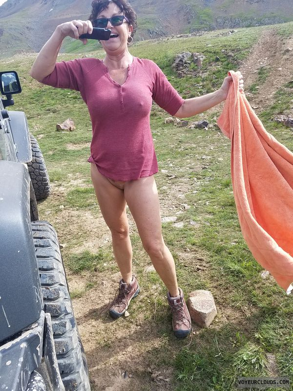 Hard nipples, GILF, Enhanced boobs