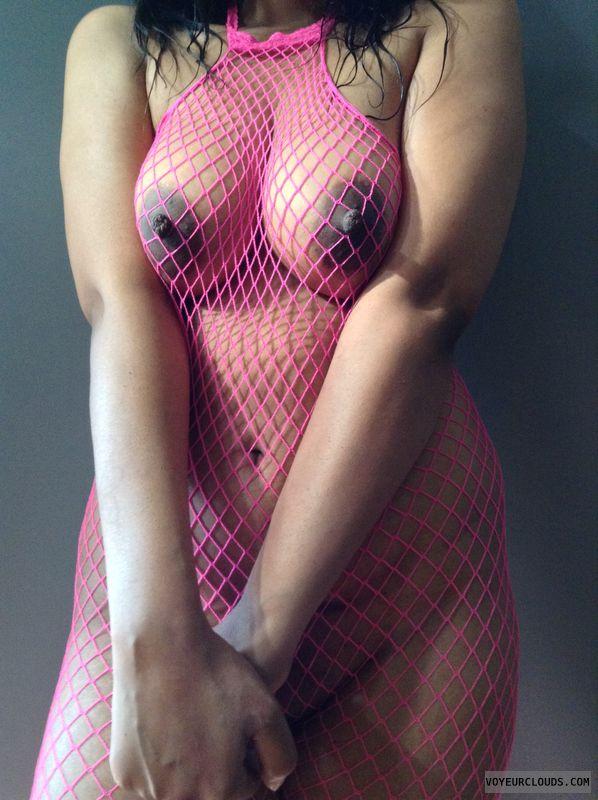Nude wife, big tits, shaved pussy, hard nipples, erect nipples