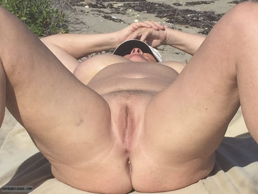 pussy, tits, legs, thighs, spread, pink, ass, beach
