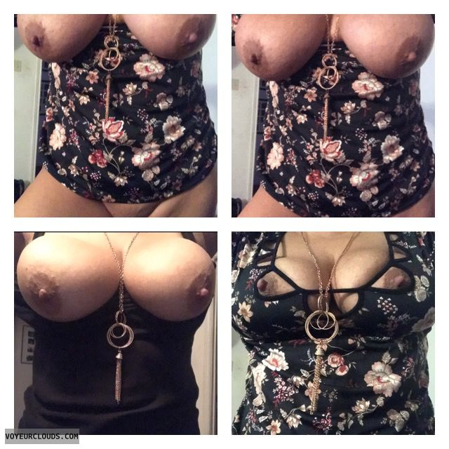 Big tits, sexy wife, tits out, nipples, cleavage, bigtits71