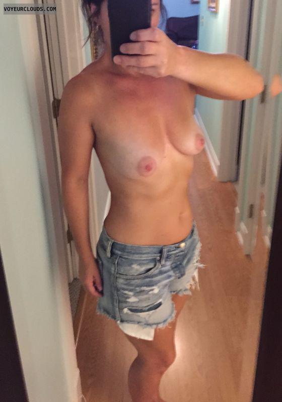 Tits, milf, mifl tits, big nipples, silver dollar nipples