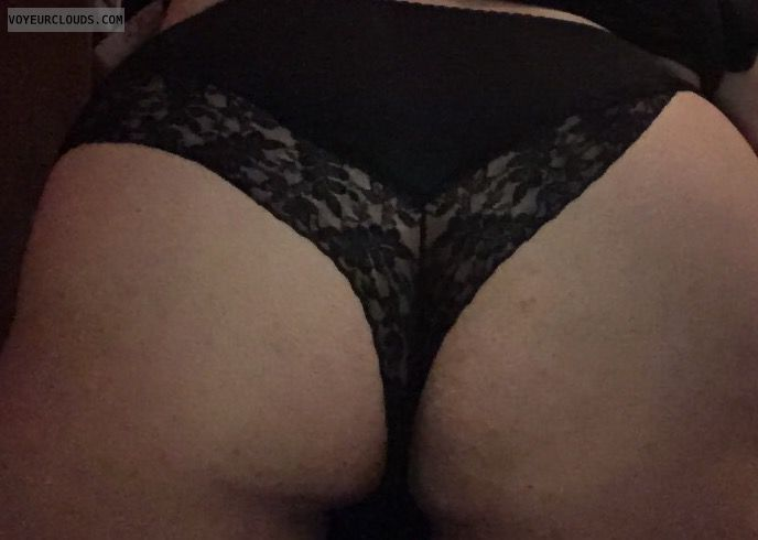 big ass, round ass, black thong