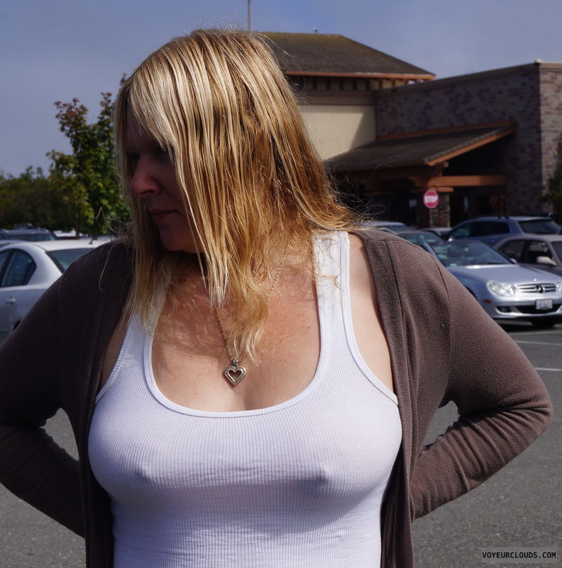 braless, pokies, hard nipples, big tits, see through