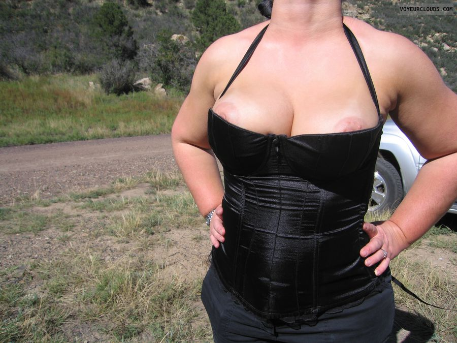 Boobies, Cleavage, Big Tits, Outdoor Flasher, Puffy Nipples