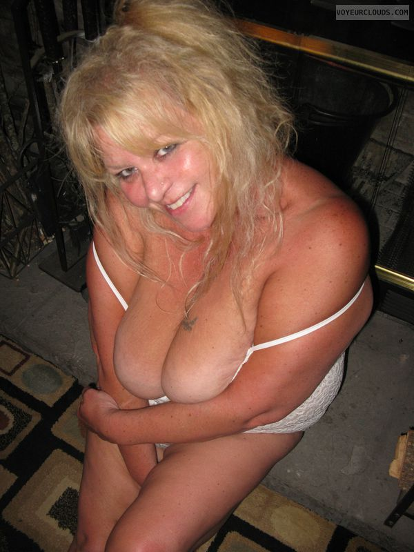 blonde, wife, big tits, lingerie, cute, milf, mature
