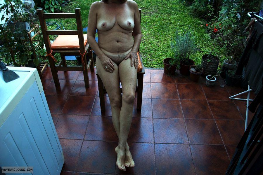 tits, legs, feet, pussy, nude wife