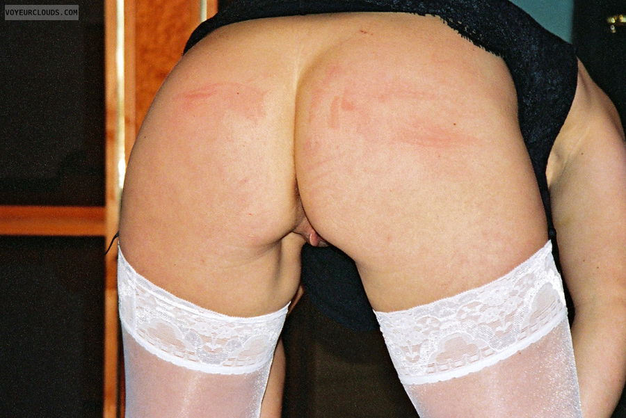 Open ass, No panty, bent over, ready for a big cock