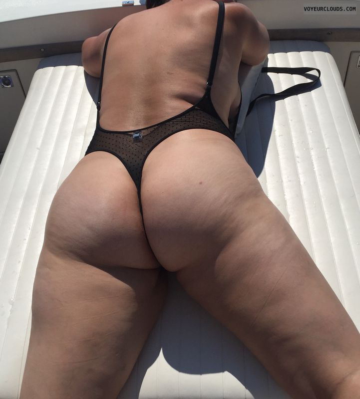 Thong, round ass, round butt, wicked weasel