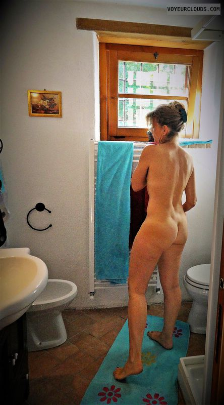 anna, wife, bathroom, ass, nude