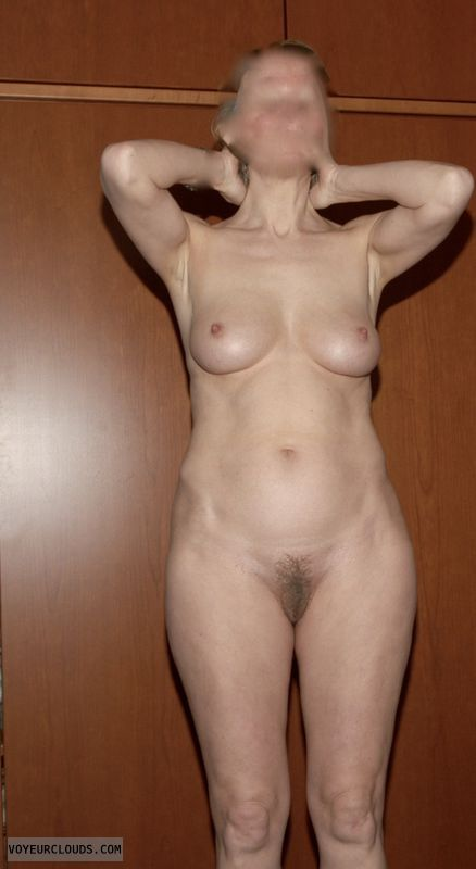 hairy pussy, bush, hard nipples, nude woman