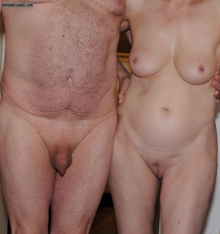 nude couple, couple life, hard nipples, shaved pussy