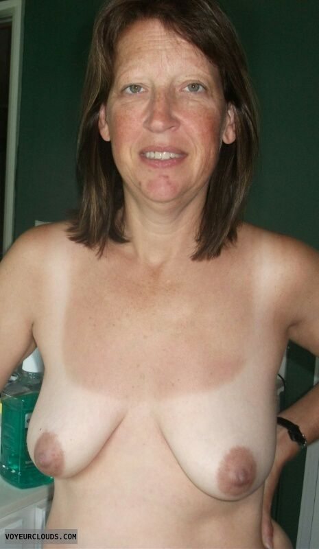 Topless, Mature, Dark Nipples