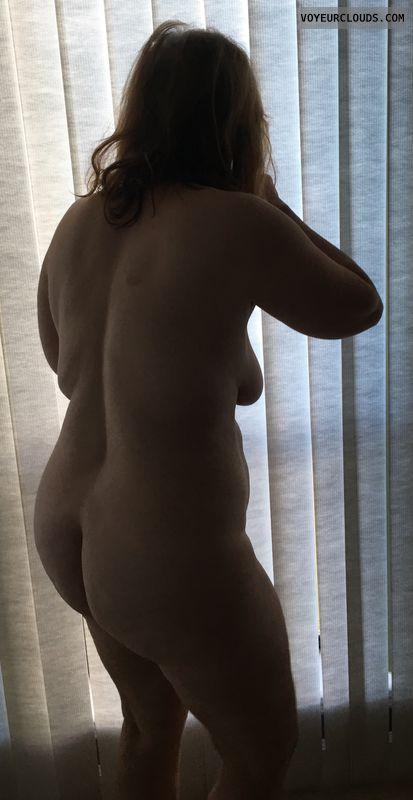 Big Ass, Round Ass, Mature, Shadow, Side Tit