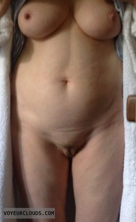 nude, big boobs, hard nipples, round boobs, shaved pussy