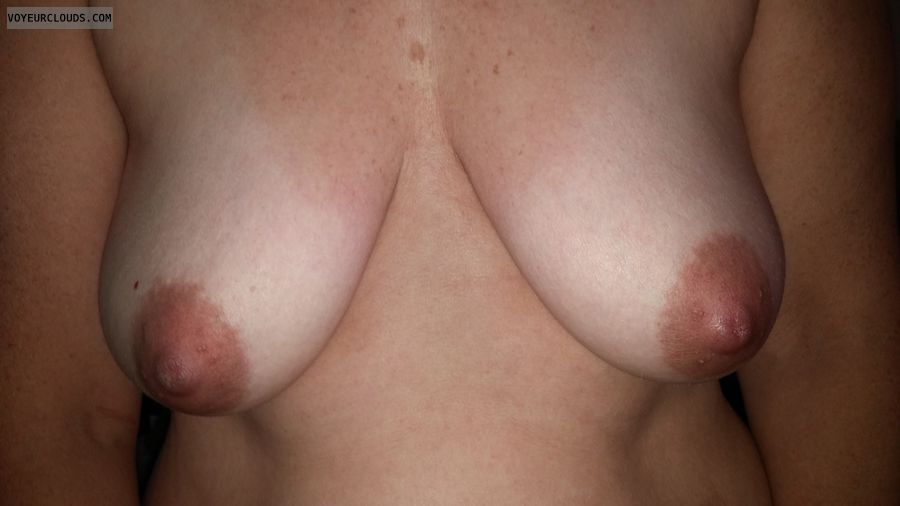 Mature Tits, Hard Nipples, Dark Nipples