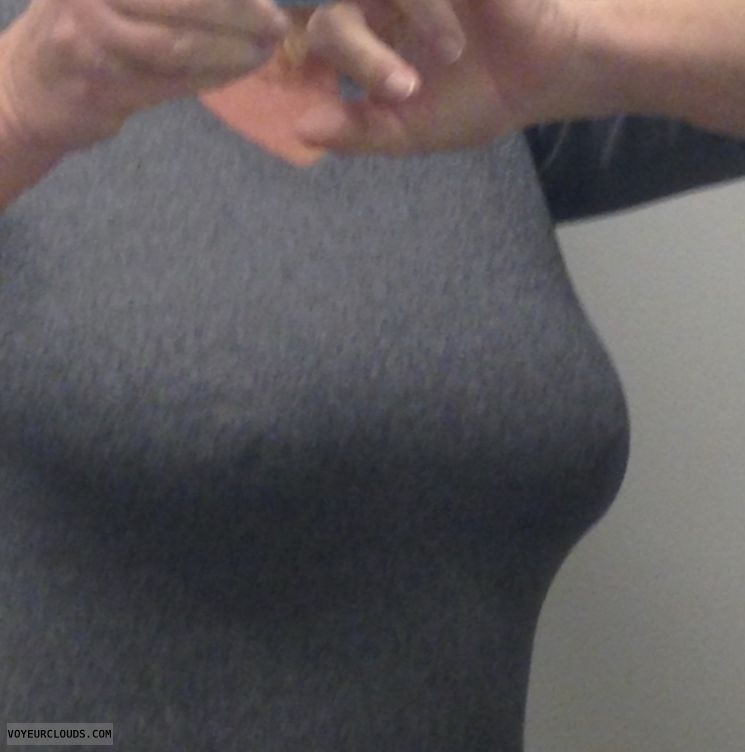 pokies, small tits, hard nipples, braless