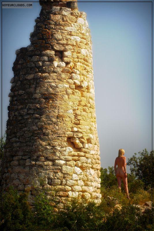 nude wife, outdoor, public, france, wife, long legs