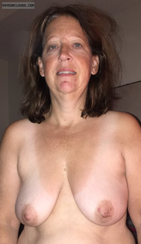 Mature wife, Saggy Tits, Hard Nipples, tanlines