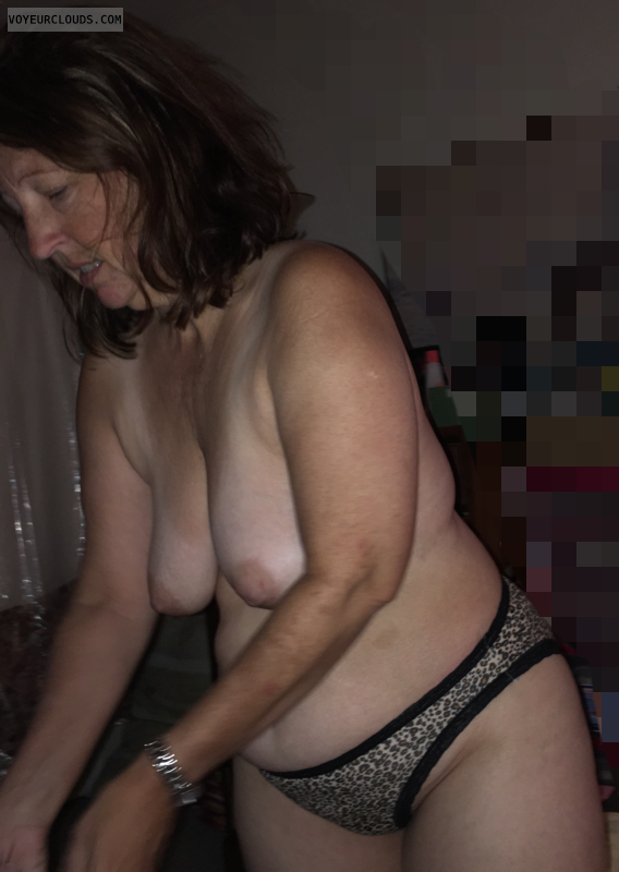 topless, Mature wife, hangers, tanlines