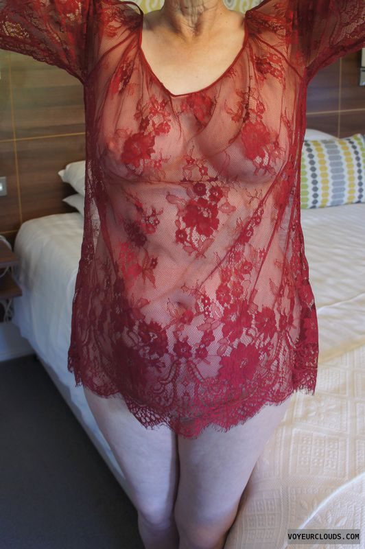 sheer lingerie, hard nipples, pussy peek, boobs, tits