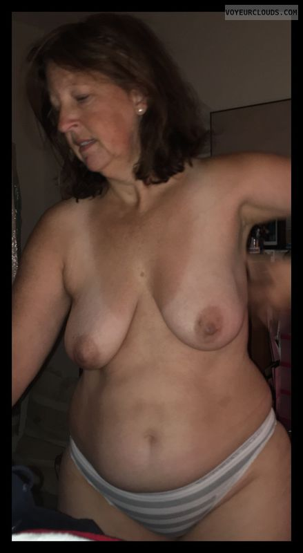topless, Mature wife, Saggy Tits, small tits, small boobs