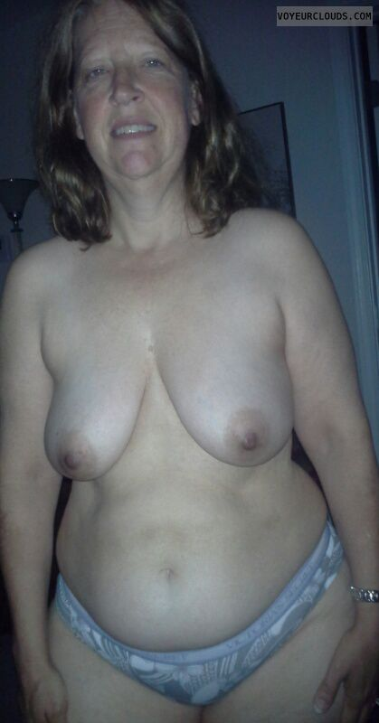 topless, Mature wife, small tits, small boobs, hard nipples