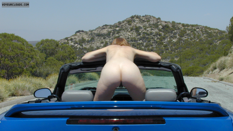 Nude in Public, Exhibitionist, Nude on the Highway