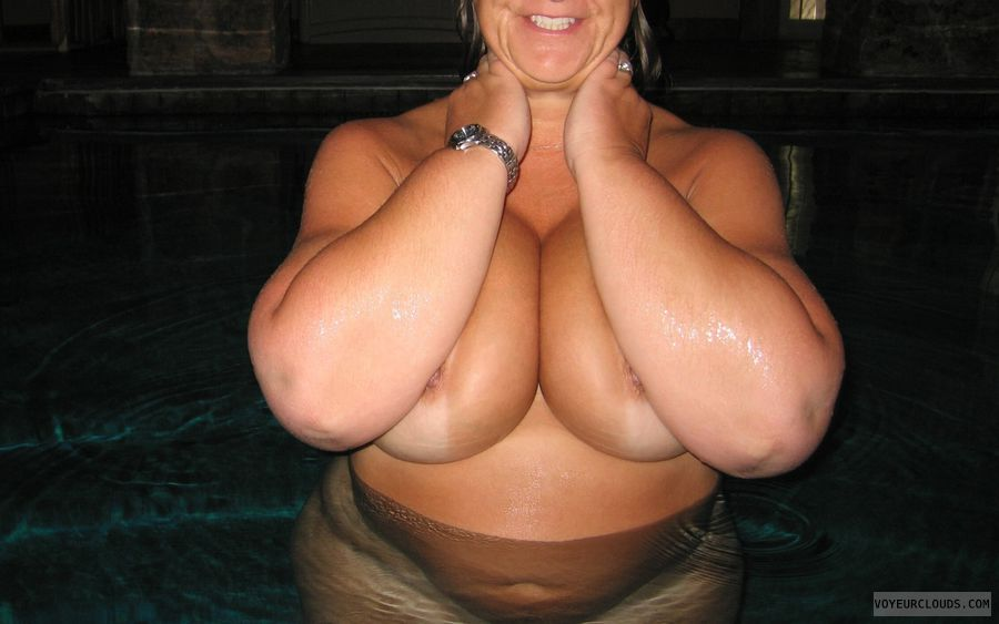 Big Tits, Boobies, Cleavage, Cold Nipples, Public Pool Nudity