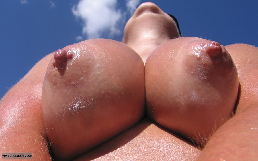 Big Tits, Puffy Nipples, Boobies, Cleavage, Outdoor Nudity