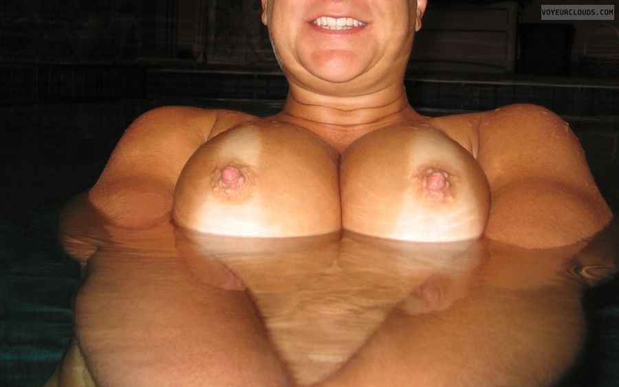 Big Tits, Cleavage, Public Pool Nudity, Tanlines, Cold Nipples
