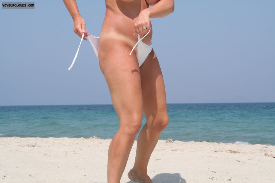 Tease, beach, milf, wife, voyeur, exhibitionnist