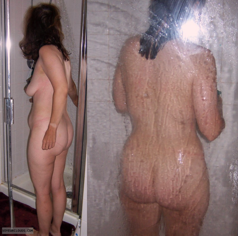 Big Ass, Round Ass, Small Tits, Shower, Mature, Slut