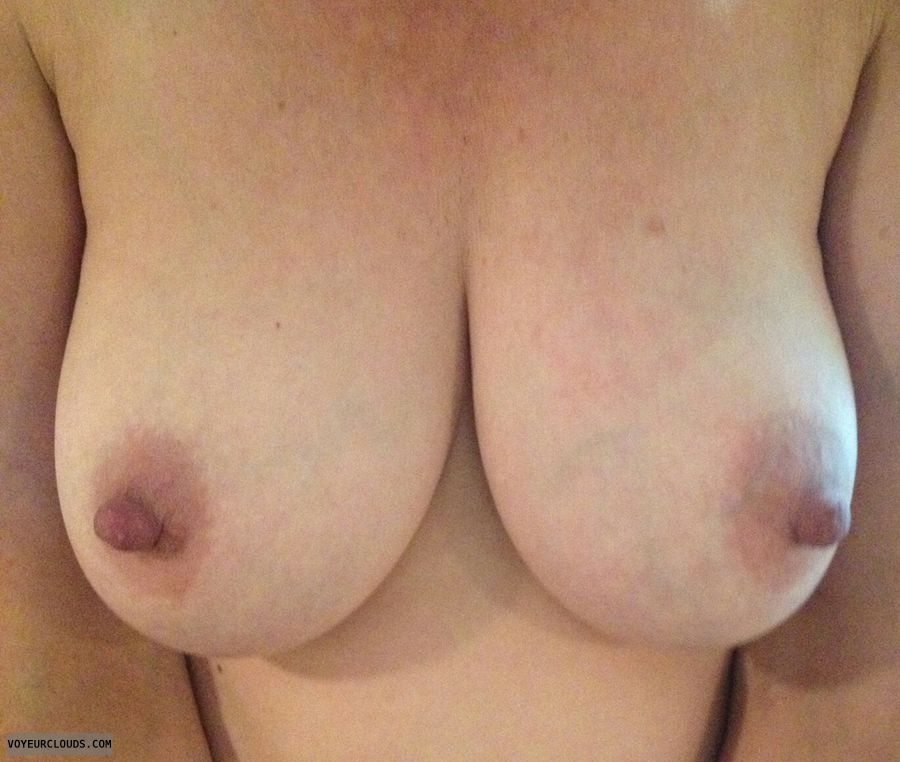 topless, Natural tits, hard nipples, wife tits