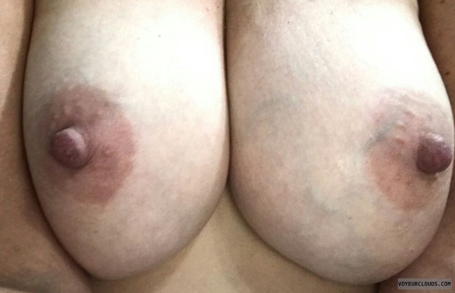 topless, hard nipples, selfie, big boobs, big tits