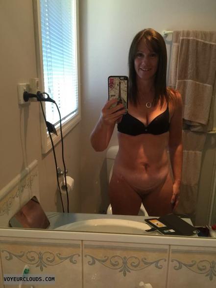 hairy pussy, pussy peek, selfie, mirror pic