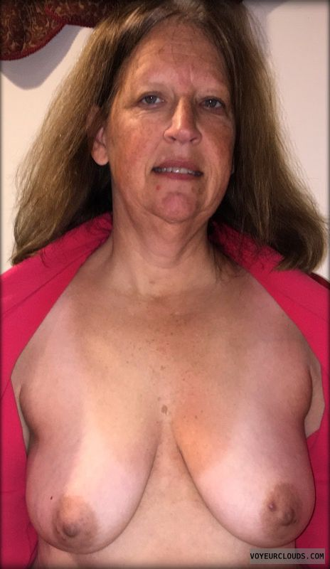 Mature, Saggy tits, Dark nipples, slut