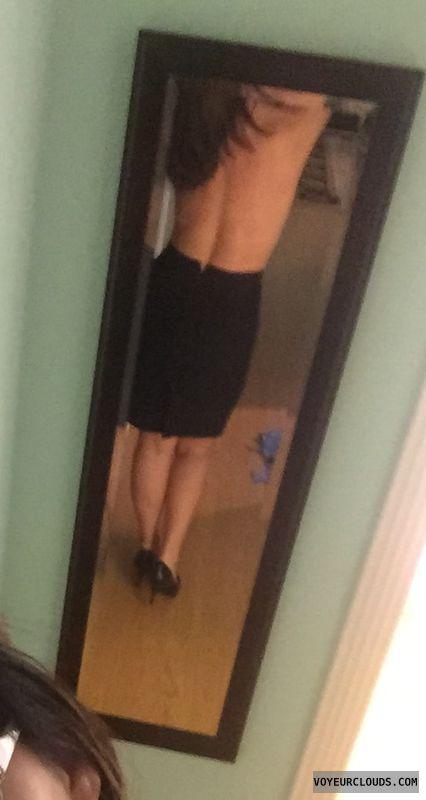 Selfie, skirt, ass, milf ass, sexy legs, sexy heels