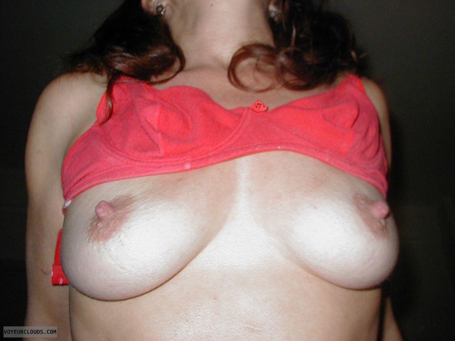 hard nipples, pink nipples, big tits, riding cock