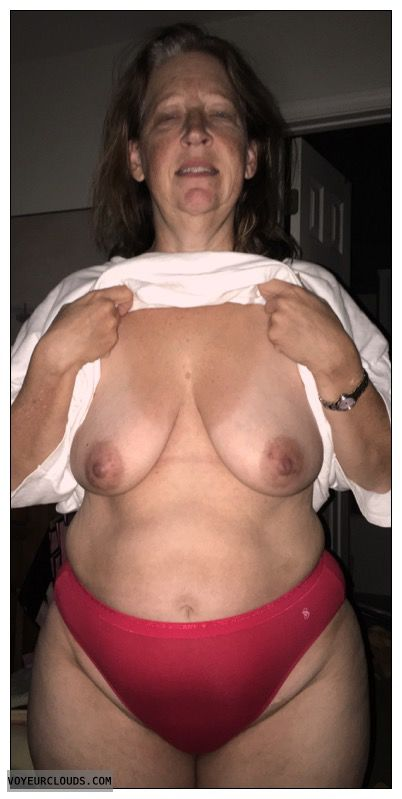 Mature, Saggy tits, Slut
