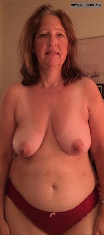 Mature, Saggy tits